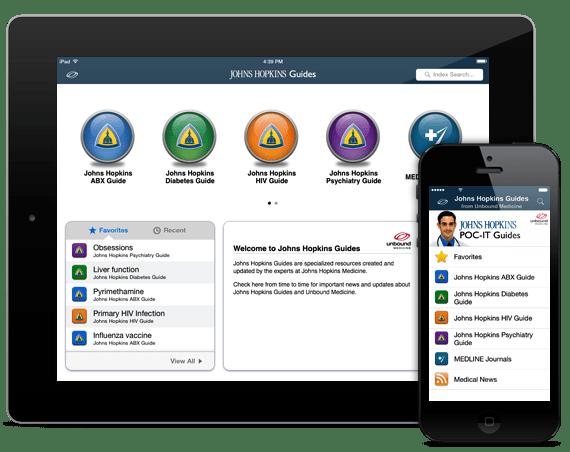 Johns Hopkins Guides iOS iPhone iPad Android