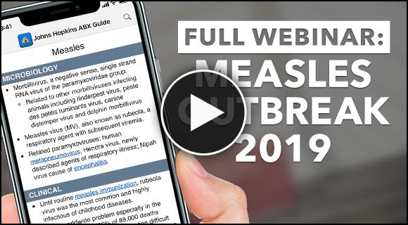 Measles Outbreak 2019 Webinar